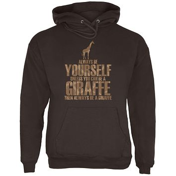 Always Be Yourself Giraffe Mens Hoodie