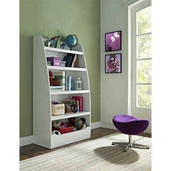 4-shelf Bookcase Bookshelf for Dorm Room, Home Office, Living Room Kids Room