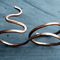INFINITY COPPER WRAP AROUND DOUBLE FINGER SNAKE RING