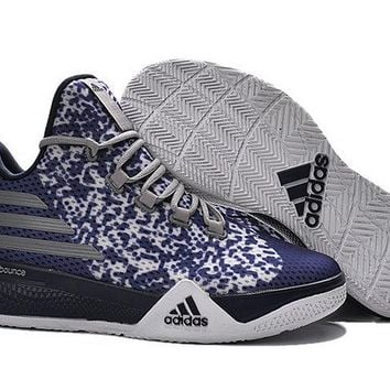 2018 Popular Adidas Light EM UP 2 Bounce Lillard Midnight Navy White Brand sneaker