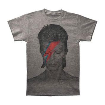 David Bowie Men's  Aladdin Sane Subway T-shirt Heather