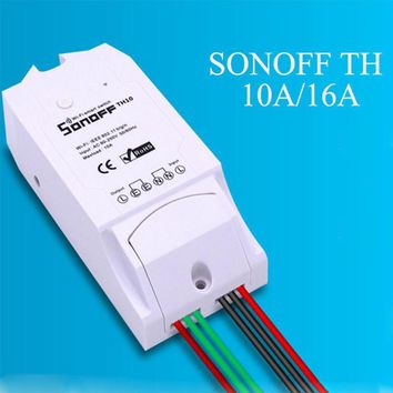 Newest Sonoff WiFi Smart Switch TH10/TH16 Temperature And Humidity Monitoring Controller Sensor with Timing Function Hot Sale