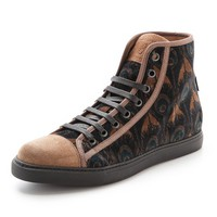 Peacock High Top Sneakers