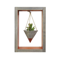 Mini Planter, Hanging Planter, Wall Planter, Air Planter, Succulent Planter, Modern Planter, Concrete Planter, Shadow Box, Gift for Her