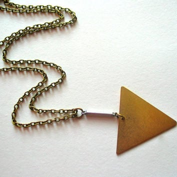 Arrow Necklace - Vintage Brass and Steel