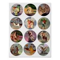 Fantasy Fairytale Beasts And creatures Art Poster