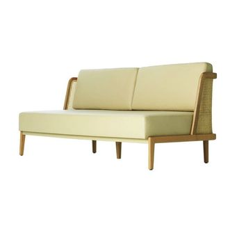 Throne Sofa with Rattan - LOUNGE - SEATING