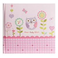 Stepping Stones ''Our Baby Girl'' Owl Recordable Photo Album (Pink)