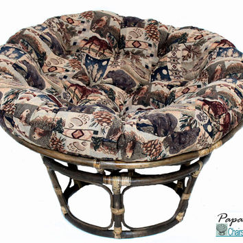 "42"" Single Papasan Chair with Tapestry Cushion"