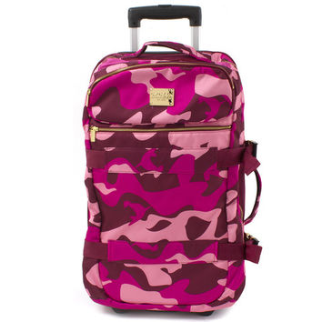 Camo Carry-On Roller in Pink –Pink+Dolphin