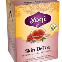 Yogi Skin DeTox Tea, 16 Tea Bags (Pack of 6)