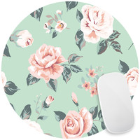 Blossom on Green Mouse Pad Decal