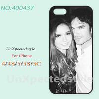 Phone Cases, iPhone 5/5S Case, iPhone 5C Case, iPhone 4/4S Case, Nina Dobrev and Ian Somerhalder, Case for iPhone-400437