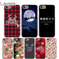 Lavaza merry Christmas Cover Case for iPhone X 10 8 7 6 6S plus Cases for Apple 5 5S 5C SE 4 4S Coque Shell