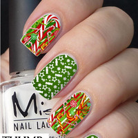 Candy Christmas nail decal
