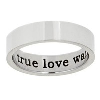 True Love Waits Inside Stainless Steel Purity Ring