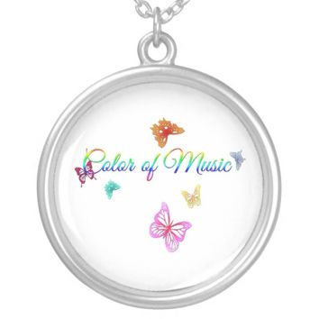 Color of Music Round Pendant Necklace