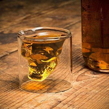 Ecofriendly Crystal Skull Cocktail Glass cup Whisky Shot Glass Cup 250 ml
