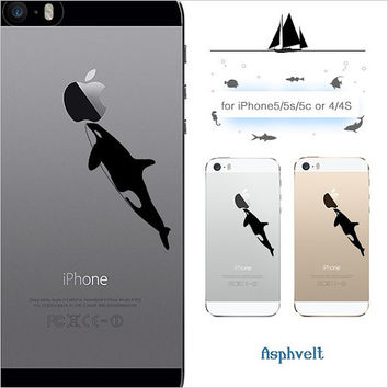 20% off coupon code SPRINGCASE iPhone 6 6 plus Killer Whale iPhone 5 5s 5c orca Free Shipping Clear case iPhone 4 4s made in Japan sea