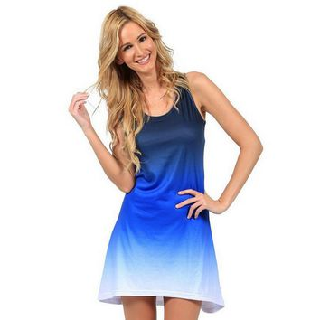 Ombre Slim Tank Dress