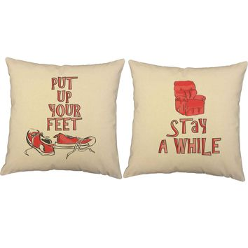 Stay A While Recliner Chair Throw Pillows