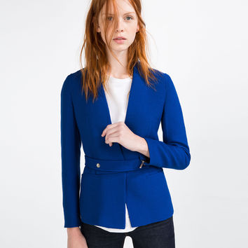 FABRIC WAIST BLAZER - BLAZERS-WOMAN | ZARA United Kingdom