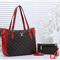 LV Louis Vuitton tide brand female large capacity shopping bag handbag Messenger bag two-piece