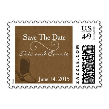 Country Theme Save The Date Wedding Postage Stamps