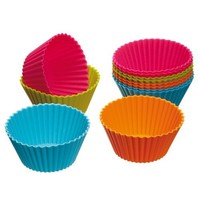 "OliaDesign Silicone Cupcake/Muffin Cases, 2.8"", Multicolor"