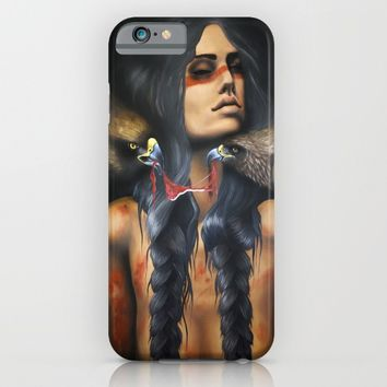 Running Eagle iPhone & iPod Case by Chelsea Brown