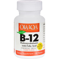 Ola Loa Products Sublingual Hydroxycobalamin B12 - 60 Tablets