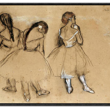 Edgar Degas, Three Dancers, Drawings