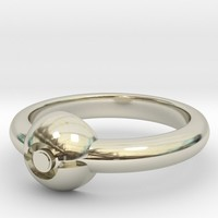 Pokeball Ring-Thin Band (Edit size in description)