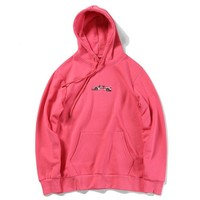 Hoodies Pink Print Alphabet Pullover Hats [11441996423]