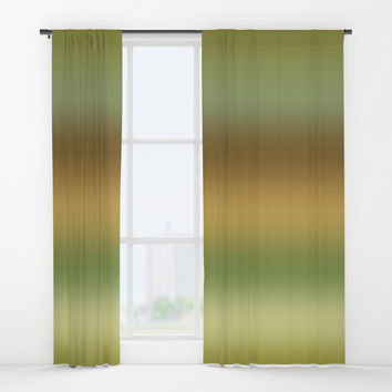 Tussock Green Smoke Window Curtains by Deluxephotos