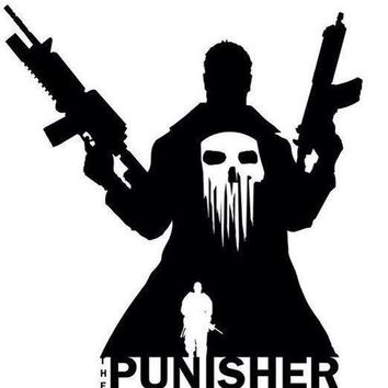The Punisher Silhouette Vinyl Decal Sticker