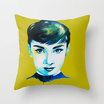 Audrey Hepburn Throw Pillow by Talula Christian
