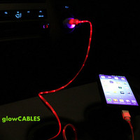 Red glow cable and car charger for samsung galaxy s2 s3 s4 I II III - micro usb also works with htc droid dna one mini lg g2 nexus 4 5 7