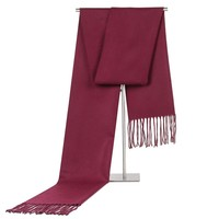 Business Scarf Luxury Men's Scarf Brand Cashmere-like Warm Scarves Solid Neck Scarf