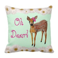 """Oh Deer"" Fawn Pillow"
