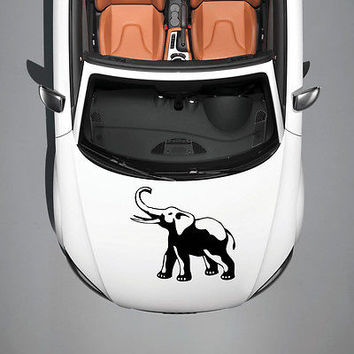 WILD ANIMAL ELEPHANT HOOD CAR VINYL STICKER DECALS GRAPHICS CUTE DESIGN SV2683