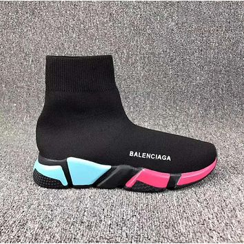 Balenciaga Trending Casual Women Men Stretch Fabric Socks Boots Sport Shoe I-CSXY