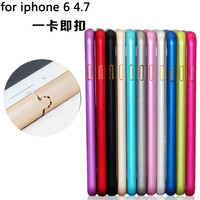 """Protect Cases Ultra thin Metal Aluminum Frame Bumper Case For Apple iphone 6 4.7"""" Slim Shockproof Cell Phone Mobile"""