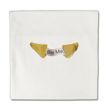 "Bite Me - Fortune Cookie Micro Fleece 14""x14"" Pillow Sham"