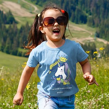Cherished Girl Totally Unique Unicorn Christian Toddler Youth Bright T Shirt