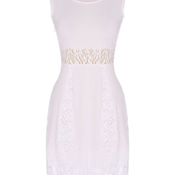 New Spring Summer Fashion Women y sleeveless Hollow Out Casual Lace Party Dresses casuales femininos mujer casuales grandes Alternative Measures - Brides & Bridesmaids - Wedding, Bridal, Prom, Formal Gown