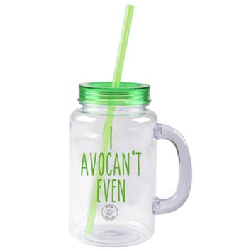 I Avocan't Even Mason Jar Water Bottle