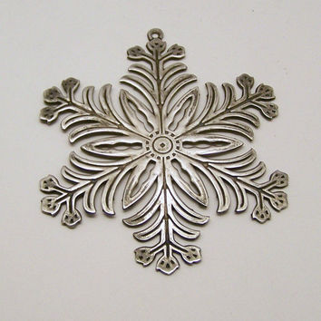 1973 MMA Sterling Snowflake Ornament, Metropolitan Museum of Art Christmas Collectible