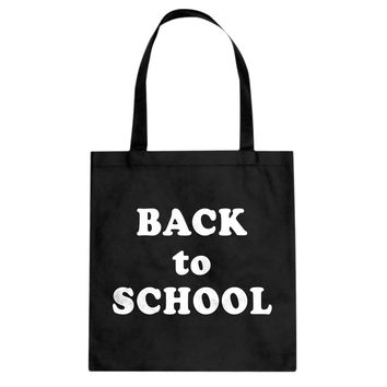 Back to School Cotton Canvas Tote Bag