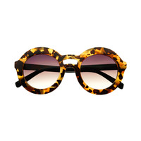 Large Chunky Retro Fashion Style Circle Round Sunglasses Tortoise R3040